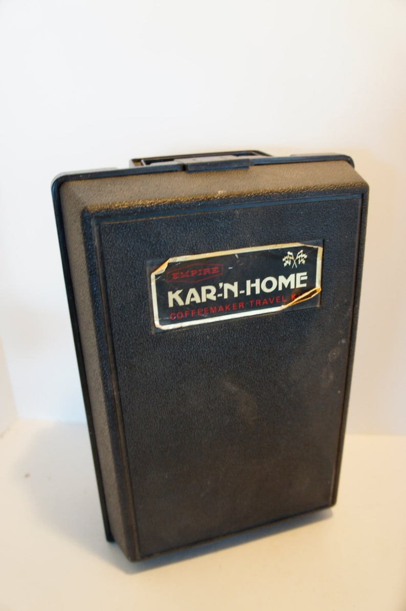 Vintage Empire Kar-N-Home coffeemaker travel kit car adaptor percolator  emergency kit camping gear