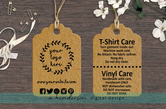 Custom Double Sided Boutique Tags Set Of 100 Care Tags Etsy