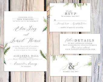 Winter Blair Wedding invitation suite