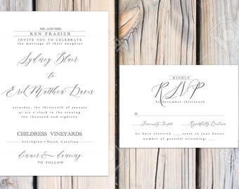 Blair Suite Classic wedding invitations