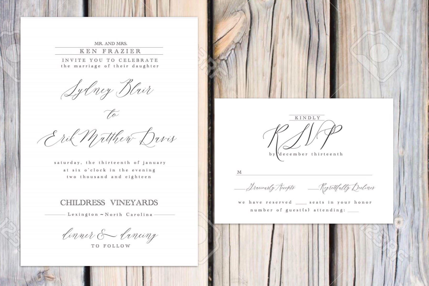 Blair Suite Classic wedding invitations