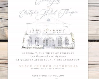 Ellena Lowndes Grove Charleston SC wedding Invitation Suite