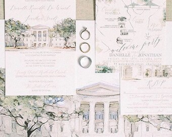 Alexa Suite Gaillard Auditorium wedding invitations