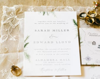 Winter Blair Print Wedding invitation suite