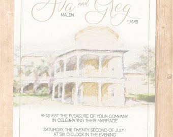 Ava Suite William Aiken House invitations