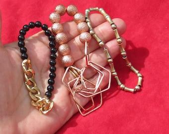 Lot Of Retro Beaded Bracelets Restring Repurpose