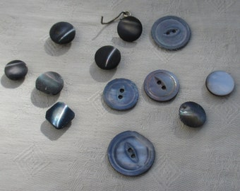 Lot Of  Vintage Assorted Shell Buttons TLC