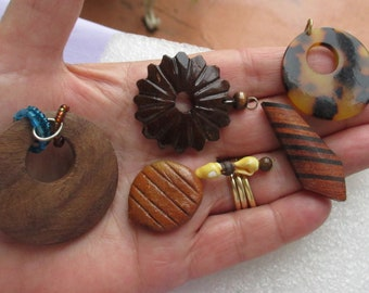 Lot Of Salvaged Boho Pendants One Missing Bale