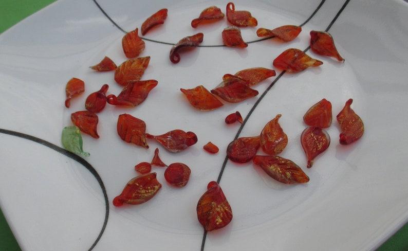 Lot Of Colorful Glass Leaf Shards