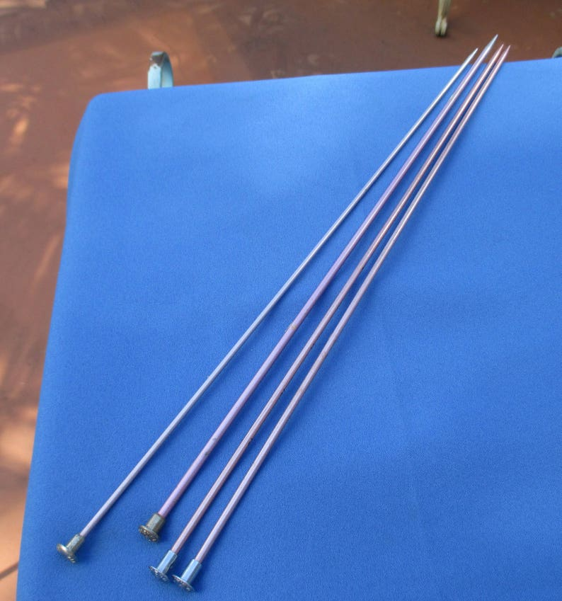 Lot Of Aluminum Single Odd Knitting Needles Plus One Matching Pair