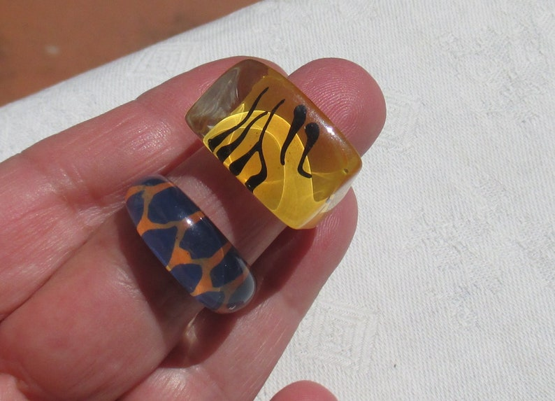 Lot Of Abstract Acrylic Rings
