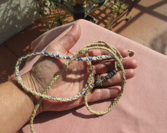 Lot Of Retro  Rope Beaded Choker Necklaces TLC
