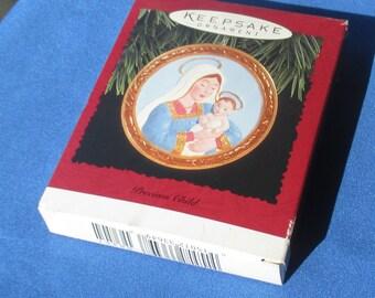 Hallmark 1996 Precious Child Ornament In Box