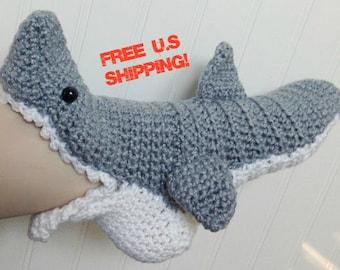 ADULTS - Unisex Crochet Shark Slipper Socks