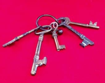Vintage Key Ring and Skeleton Keys