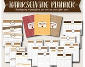 Thanksgiving Planner and Organizer Bundle - Printable 8.5x11 Thanksgiving Planner/Kit