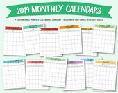 Printable 2019 monthly ca...