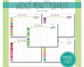 weekly menu & snack planner : monday start