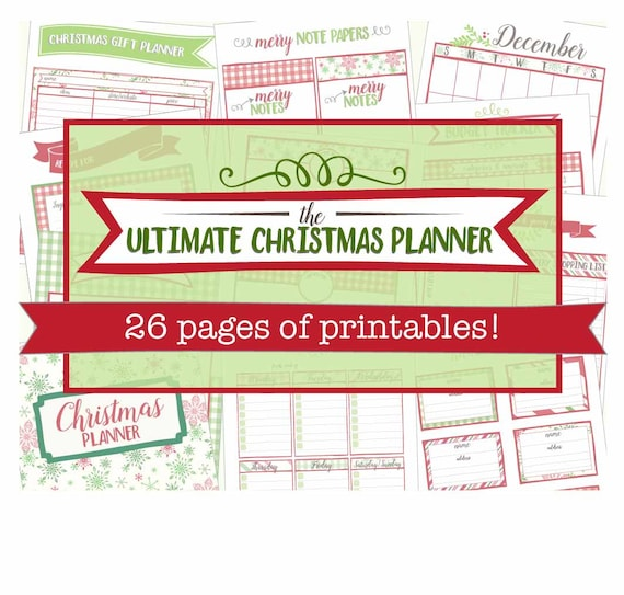 Christmas Planner Printables Free.The Ultimate Christmas Planner Printable Holiday Organizer