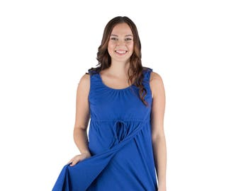 f31ba60f26b 3 in 1 Sapphire Blue Maternity Labor Delivery Nursing Gown By Baby Be Mine  Maternity