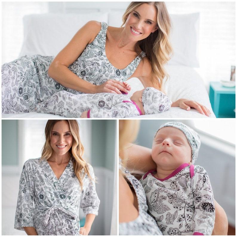 0a442b6836a7e 4 PC Set-Ella Maternity Delivery Labor Nursing Robe & | Etsy