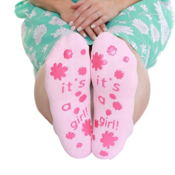 Girl Fun Labor Delivery Push Non Skid Hospital Socks For Mom To Be Delivery Must Have Baby Shower Gift Boy