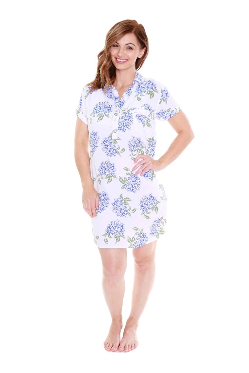 12e2b09a1fbf7 Juliette Floral Luxurious Soft Floral Nursing Nightshirt | Etsy
