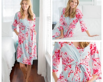 Maternity Delivery Labor Nursing Robe / Hospital Bag Must Have / Baby Be Mine Maternity / Hospital Robe / Mae