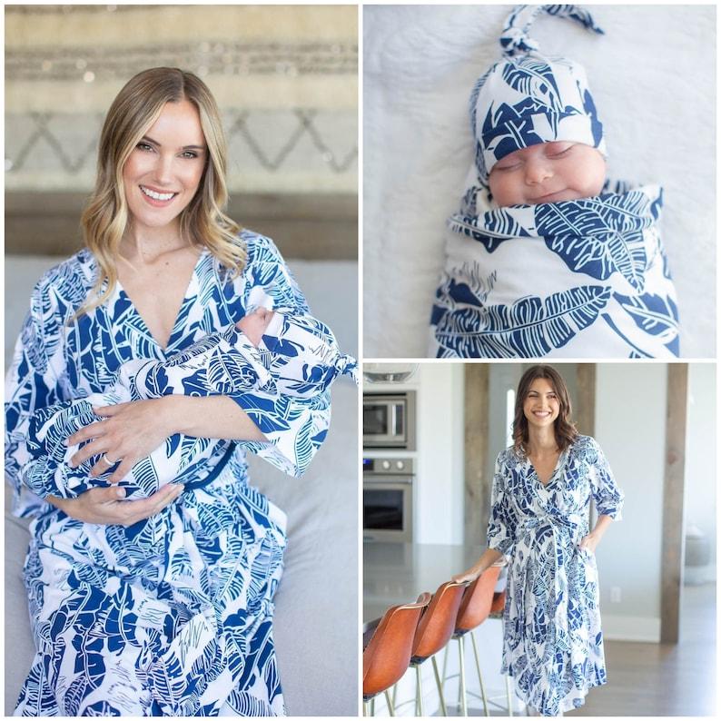 1fa599f11a141 3 Piece Serra Navy Blue / White Maternity Nursing DELIVERY   Etsy