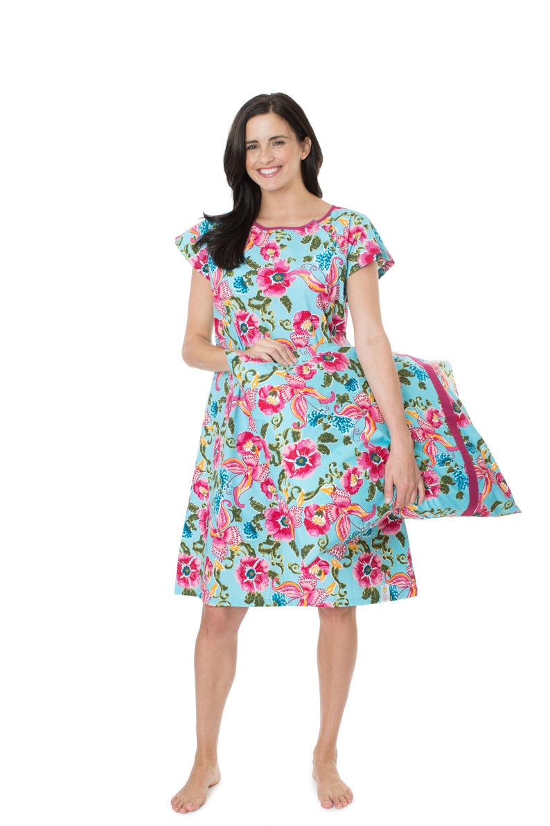 9d151b17de Isabelle Floral Maternity Labor Delivery Hospital Gown Gownie