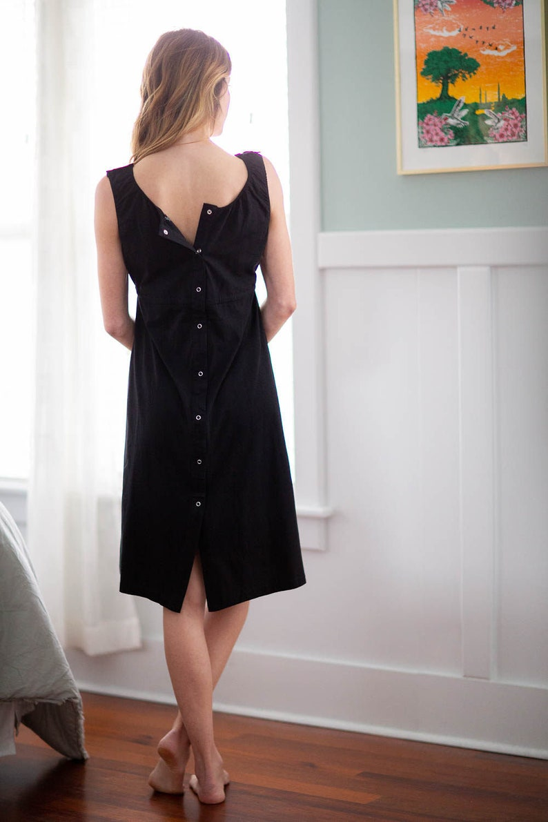 3 in 1 Black Maternity Labor Nursing Delivery Hospital Gown By Baby Be Mine  Hospital Bag Must Have  Baby Shower Gift  Ready To Ship!