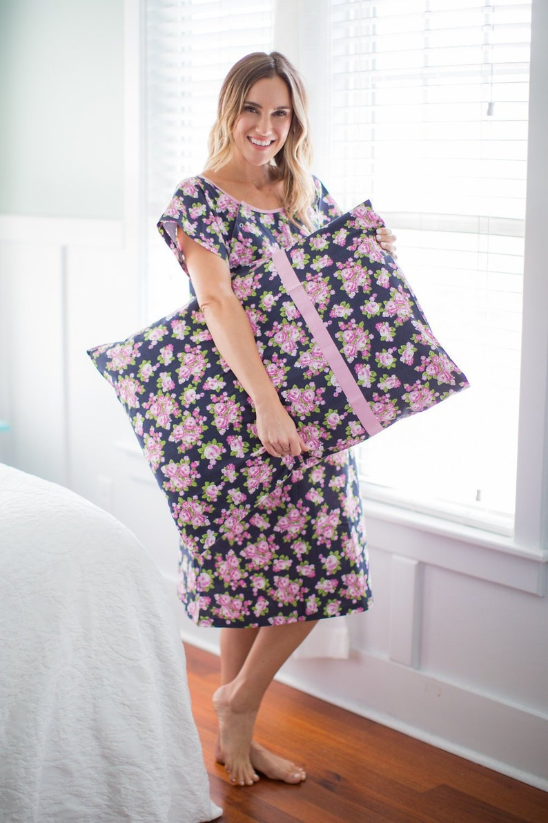 1f8e8ae7c4 2 PC Set-EVE Floral Maternity Labor Delivery Hospital Gown