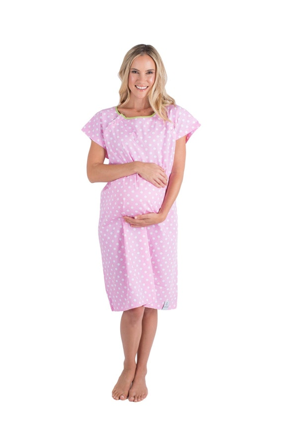 Molly Pink Dotted Labor Delivery Maternity Birthing Hospital