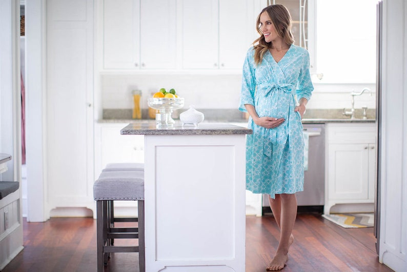 Celeste Maternity Delivery Labor Nursing Robe By Baby Be Mine Maternity-Hospital Bag Must Have Baby Shower Gift New Mom  Hospital Bag
