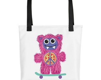Pink Skateboarding Munchie Monster purse carry on diaper bag Tote bag