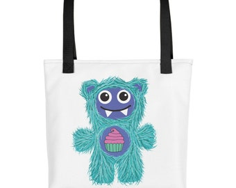 Cupcake Teal Munchie Monster Purse Carry On Diaper Bag Tote bag