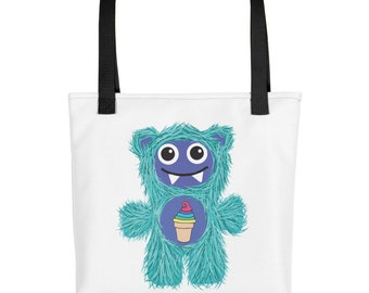 Ice Cream Teal Munchie Monster Tote bag