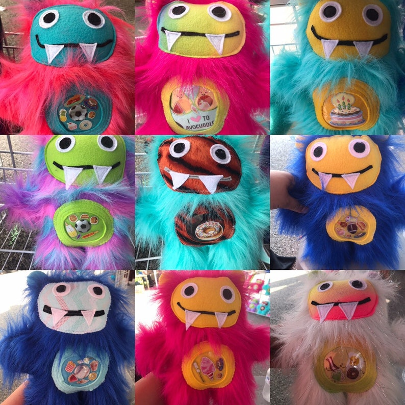 Lola And The Munchie Monsters Cute Furry Monster Plush Doll Etsy