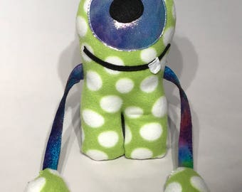 Lime Green with polka dots Alien!