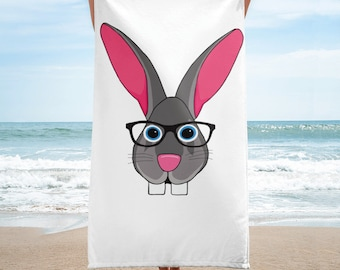 Flemish Giant Bunny Rabbit Beach / Bath Towel