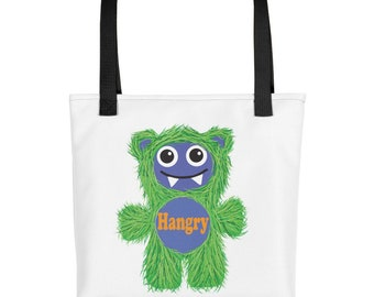Green Hangry Munchie Monster purse carry on diaper bag Tote bag