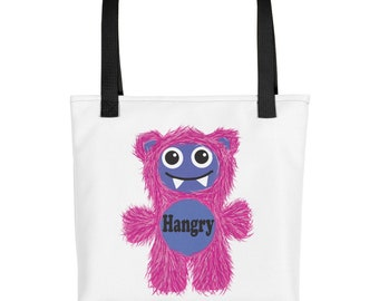 Pink Hangry Munchie Monster purse carry on diaper bag Tote bag