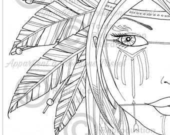 Mandala Coloring Drawing / Coloring women / Drawing for Adult / Mandala