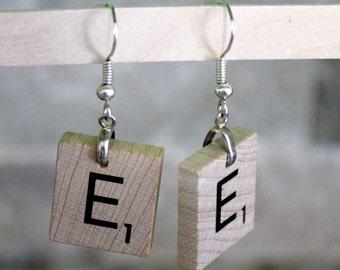 Scrabble tiles / studs earrings