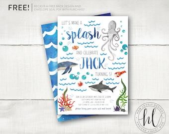 ocean invitation etsy