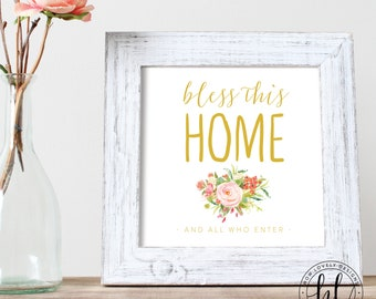 Bless This Home Spring Printable Sign | Spring Printable Sign | Spring Home Decor | Bless This Home Sign | Spring 8x10 Sign