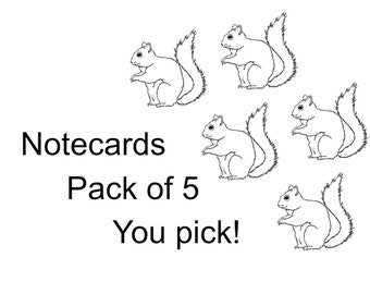 Notecards - Multipack of 5 - you pick!