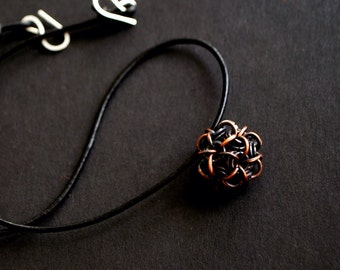 Chainmaille Japanese Ball pendant