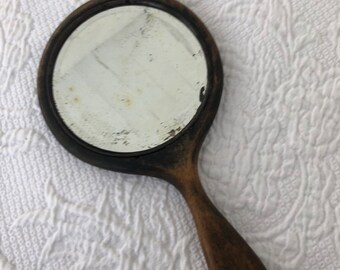 Antique hand mirror Baroque Antique Wood Once Painted Hand Mirror Pinterest Hand Mirror Etsy