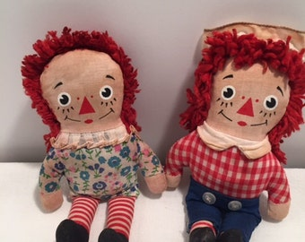 Vintage Raggedy Ann and Raggedy Andy